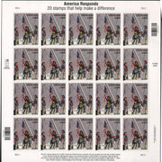 "2002 American Heroes ""9/11 First Responders"" Stamp Sheet"