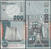 "2005 Cape Verde Islands 200 Escudos ""Sailing Ship"" World Currency , Uncirculated"