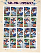 "2005 Legends of Baseball ""Baseball Sluggers"" Stamp Sheet"