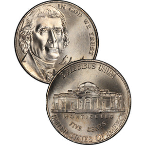 "2006-Present ""Return to Montecello"" Uncirculated Jefferson Nickels"