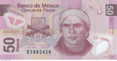 2008 - MEXICO 50 Pesos - Polymer- Size: Stand.