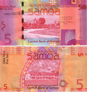 "2008 Western Samoa 5 Tala ""Beach Scene"" World Currency , Uncirculated"