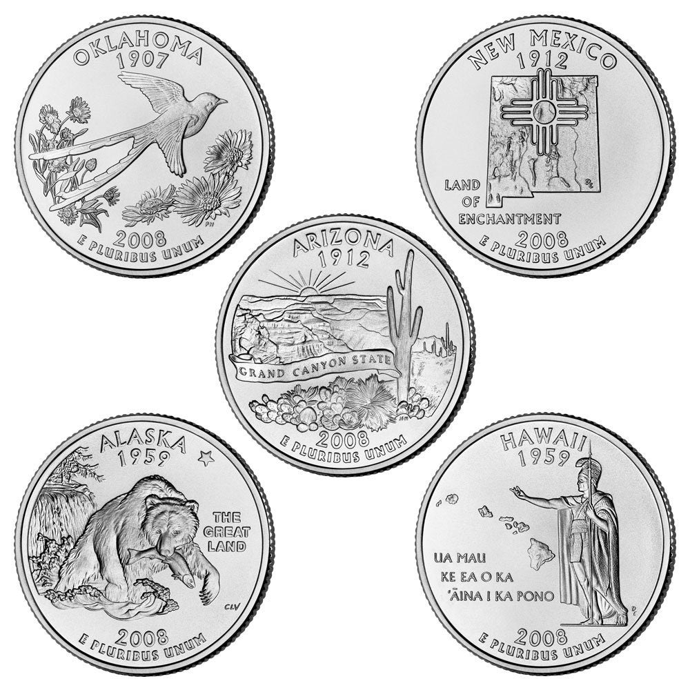 2008 State Quarters, Uncirculated