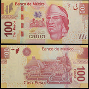 "2009-12 Mexico 100 Pesos - ""Aztec Ruler""  UNCIRCULATED World Currency"