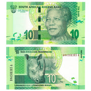 "2012 South Africa 10 Rand ""Nelson Mandela Rhino"" World Currency Uncirculated"