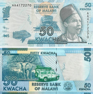 "2012 Malawi 50 Kwacha ""Kasunga National Park"" World Currency , Uncirculated"