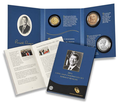 2016 Ronald Reagan Coin & Chronicle Set