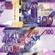 "2019 Kenya, 100 Shillings , UNCIRCULATED ""City, Harvest, Farm Animals"" World Currency"