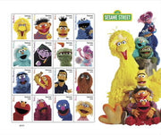 "2019 Sesame Street Forever ""All of you Favorite Characters"" Stamp Sheet"