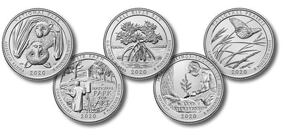 2020 National Park Quarters, Uncirculated
