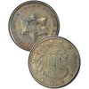 "1856 Three Cent Silver Piece , Type 2 ""3 Outlines of Star"""