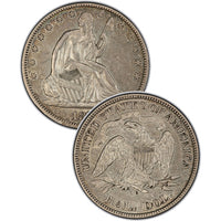 "1870-S Seated Liberty Half Dollar , Type 4 ""With Motto"""