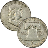 1959 D Franklin Half Dollar