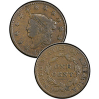 1826 Coronet Matron Head Large Cent
