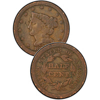 1857 Braided Hair Half Cent