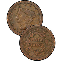 1841 Coronet Braided Hair Large Cent