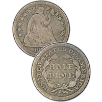 "1840-O ""No Drapery"" Seated Half Dime , Type 2 ""Stars on Obverse"""