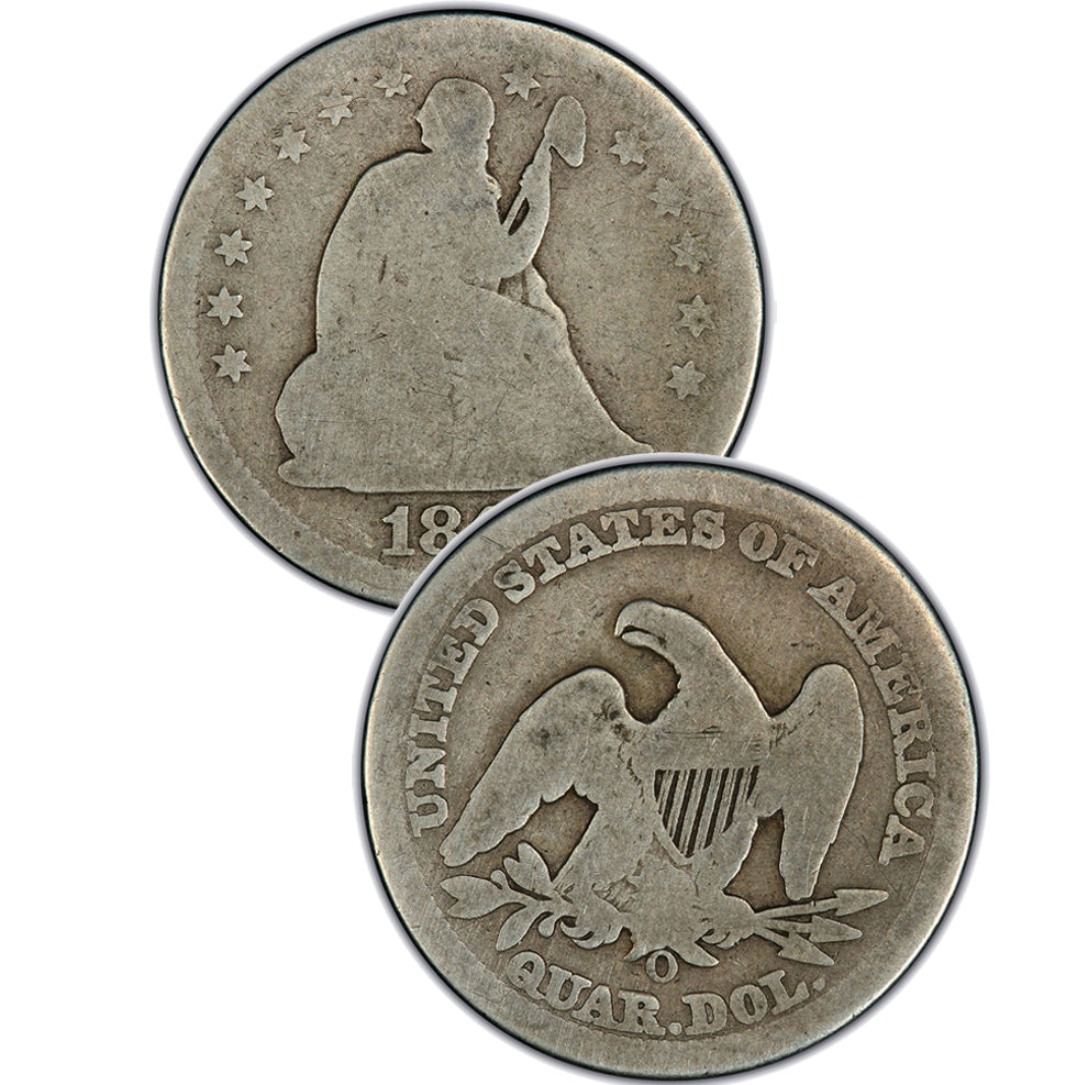 "1891-S Seated Liberty Quarter , Type 4 ""In God We Trust"" Motto"