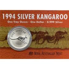 Australia, Kangaroo Silver World Crown - On info Card.