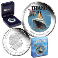 "2012 Tuvalu ""Titanic 100th Anniversary"" 1 Oz .999 Silver , World Coins"