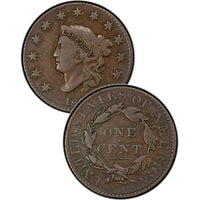 1834 Coronet Matron Head Large Cent