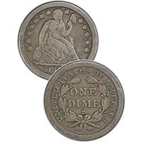 "1878 Seated Liberty Dime , Type 4 ""Obverse Legend"""