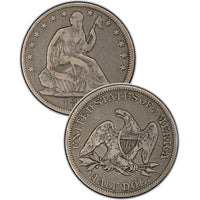 "1867-S Seated Liberty Half Dollar , Type 4 ""With Motto"""
