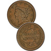 1850 Braided Hair Half Cent