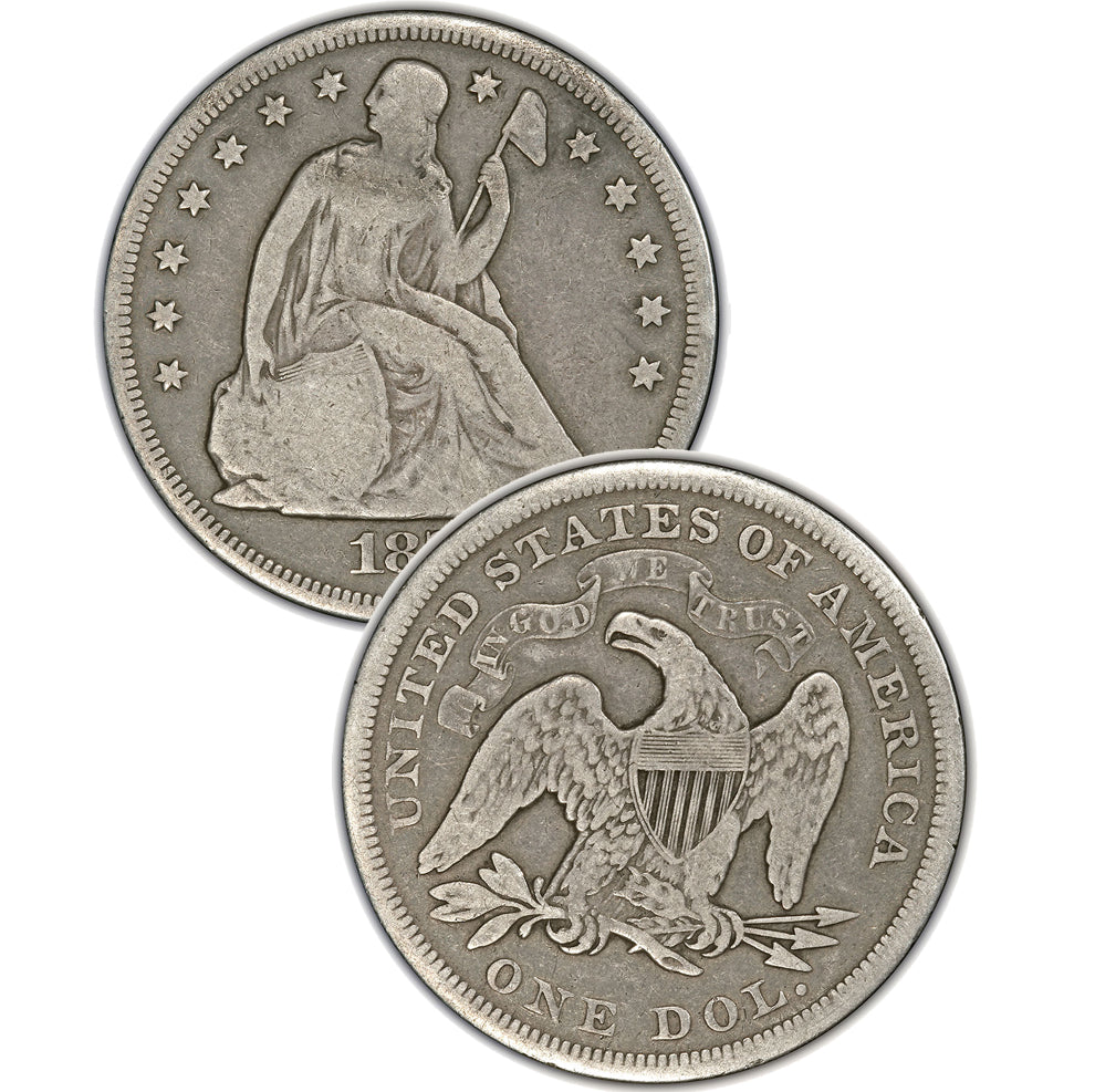 1860-O Seated Liberty Dollar