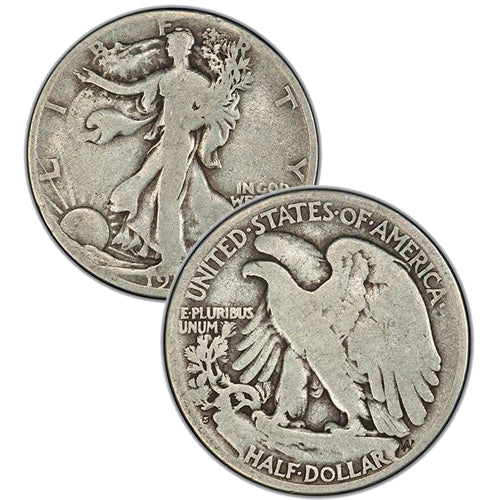 1917-S Reverse MM Walking Liberty Half Dollar