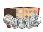 Complete 34-Coin BU Uncirculated Silver Eagle Set