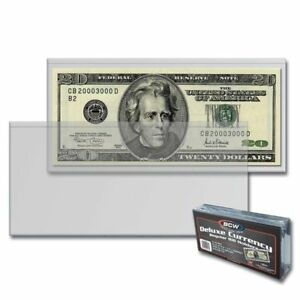 Vinyl Currency Holders - Sold in Groups of 10