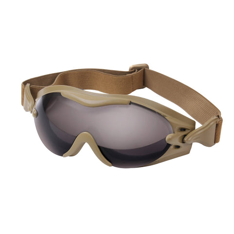 ROTHCO SWAT Tec Single Lens Goggle Coyote Brown