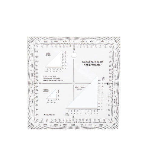 ROTHCO Navigation Coordinate Scale Protractor