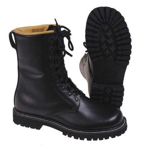 MFH Combat Boots Grain Leather with Leather Lining Black