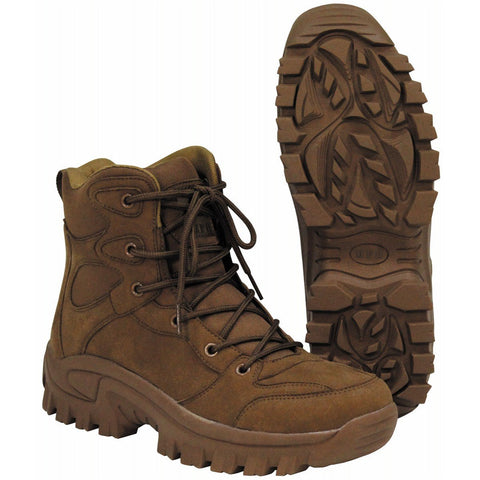 MFH Ankle High Commando Boots Coyote Tan