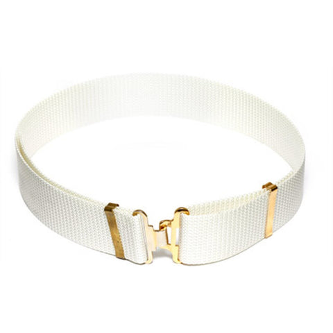 White Ceremonial Military Webbing Belt
