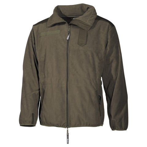 MFH Military Fleece Jacket Windproof OD green