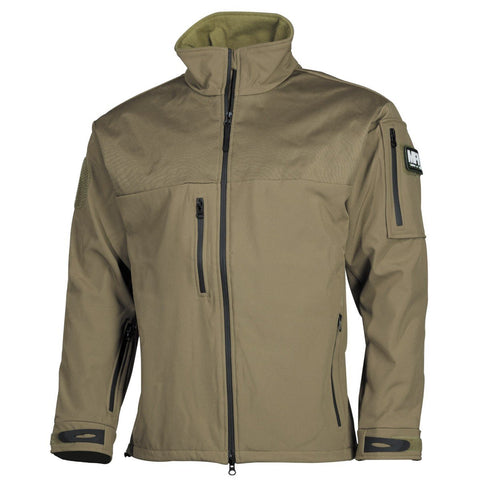 "MFH Soft Shell Jacket ""Australia"" Coyote Tan"