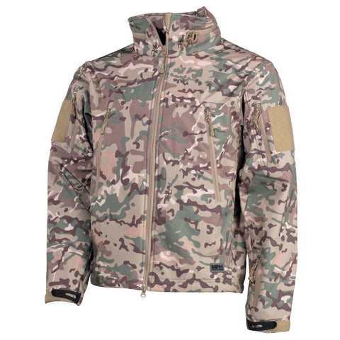 "MFH Soft Shell Jacket ""Scorpion"" Operations Camouflage"