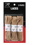 ROTHCO Military Shoe Laces 3 Pack