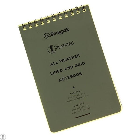 PLATATAC All Weather Lined and Grid Notebook