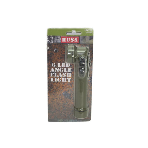 HUSS 6 LED Angle Torch Olive