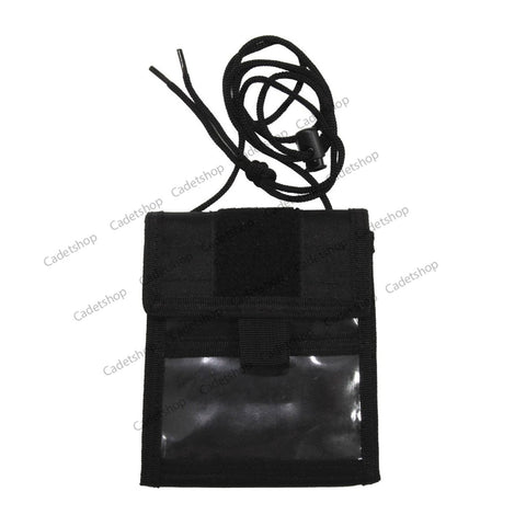 MFH Identification Holder Black Folding