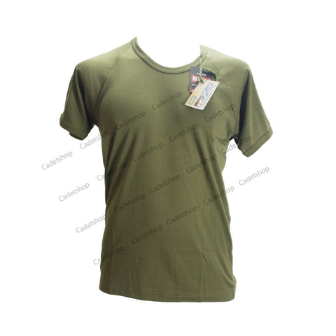 HUSS Plain T-Shirt Short Sleeve Olive