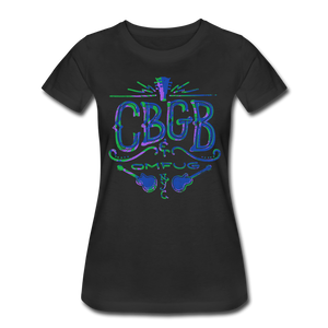 Neon Blue Logo T-Shirt (Women)