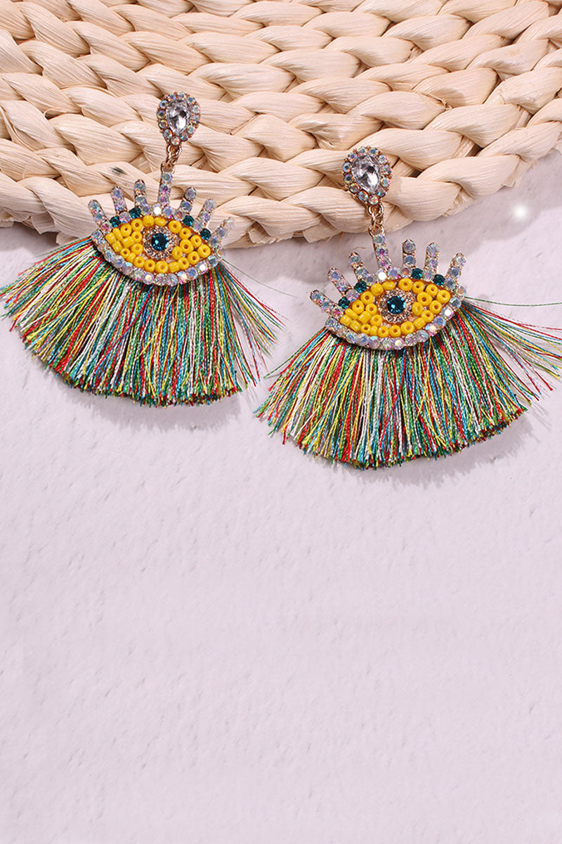 Katielike Tassel Design Multicolor Earring