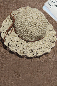 Katielike Hollow-Out Beige Hat