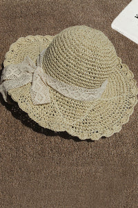 Katielike Hollow-Out Cream-Colored Hat