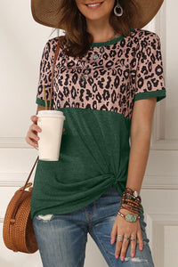 Katielike Patchwork Green T-Shirt